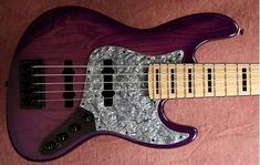 "Deep violet stain, optional electronics. #bassmods"""