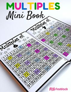 Multiples Mini Book - This is a great little book for students to practice their multiples and build a foundation for learning their basic multiplication facts. Instead of doing a worksheet and throwing it away, students will create their own book of multiples and have it to keep, remember, and review. This minibook can be created in color or black and white. Please check out the sample download.