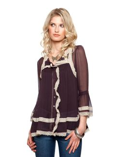 Find cute clothing from thousands of fashion designers around the world at UsTrendy. Shop juniors clothing, shoes and accessories online here. 70s Shirts, Cool Shirts, Spring Looks, Spring Style, New Wardrobe, Wardrobe Ideas, Bell Sleeve Blouse, Junior Outfits, 70s Fashion