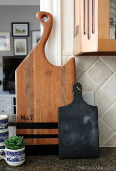 DIY Painted Wood Cutting Board - Emily A. Clark