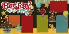 Birthday Party-Boy Page Kit