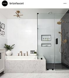 Delightful bathroom tub shower combo remodeling ideas 33 - Freestanding bathtubs are the focus of your bathroom, especially in the event that you put them in the middle of the room. It is possible to also deci. Bathroom Tub Shower, Master Bathroom Shower, Bathroom Layout, Bathroom Interior Design, Bathroom Cabinets, Shower Bath Combo, Master Bathrooms, Bathroom Mirrors, Tile Layout