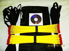awesome Speed Agility Ladder 34 Feet (Two 17 Feet Sections) + Free Bonus: 125 Speed Rope Drills Training Dvd. This Equipment Is Great for Football, Soccer, Baseball, Softball, Basketball, Volleyball, Boxing, Lacrosse, Tennis, Martial Arts, Physical Therapy