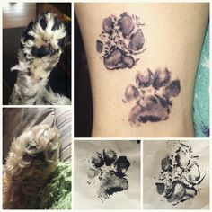 My own personal tattoo! It's the actual paw print of my dogs that I took myself. Which is a lot harder than it sounds!