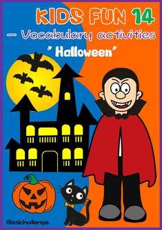 Halloween set - eslchallenge Pronoun Activities, Primary Activities, Color Activities, Halloween Vocabulary, Halloween Worksheets, English Teaching Resources, Esl Resources, Cool Kids
