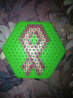 breast cancer pearler bead pattern | Flickr - Photo Sharing!