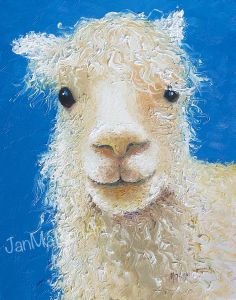 Llama oil painting Available from my Etsy Store below: https://www.etsy.com/listing/187627864/llama-painting-llama-art-animal-painting?ref=shop_home_active_2