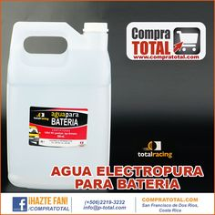 AGUA ELECTROPURA PARA BATERIA #CompraTotal - #TotalRacing