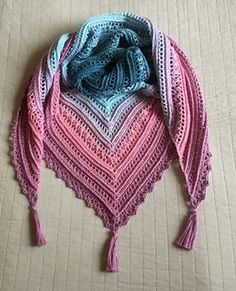 Secret Paths crochet shawl free pattern