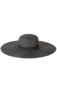 580957d6d23 This gorgeous straw hat features a classic wide floppy brim for a dramatic  Summer look. Kate s Clothing