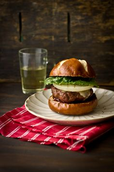 Barbequed Maple Balsamic Burger with Sharp Cheddar Cheese