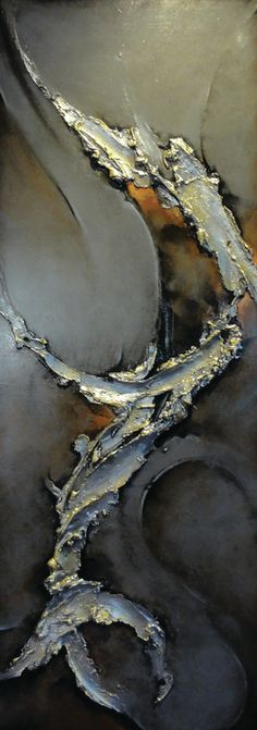 Sculptural Paintings gold leaf silver leaf art large scale classy elegant Texas Santa Fe Dallas Abstract artist contemporary -