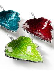 Large Recycled Aluminium Leaf Dish