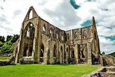 Fascinating - The Tintern (Welsh: Tyndyrn) Abbey  is a Cistercian abbey in ruins.  Built in 1131, the abbey is also mentioned in the poem Tintern Abbey by William Wordsworth.