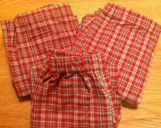 RED HOLIDAY PLAID Flannel Christmas Pajama/Lounge Pants  Available in children's sizes 0-3 months to 16.  Contact me for adult sizes to 3x on Etsy, $22.00