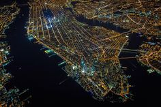 New York City from above, at night.