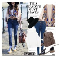 """""""pack and go"""" by yoinscollection ❤ liked on Polyvore featuring H&M and Maison Michel"""