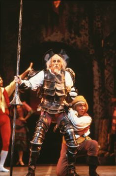 Charles Kirby and Jacques Gorrissen as Don Quixote and Sancho Panza in National Ballet of Canada's Don Quixote (ca. 1982)