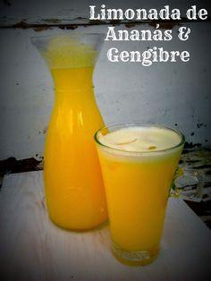 Limonada de Ananás e Gengibre