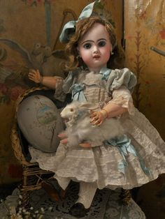 ~~~ Very nice French Bisque Bebe Jumeau Bebe Louvre ~~~