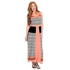 One+World+Printed+Knit+Sleeveless+Scoop+Neck+Maxi+Dress