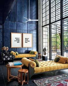 In our November 'Blue' issue, New Delhi-based author and columnist Sunil Sethi writes about the family house that architect Niels… Interior Exterior, Home Interior Design, Interior Styling, Interior Decorating, Living Room Interior, Living Room Decor, High Ceiling Living Room Modern, Home Modern, Modern Homes
