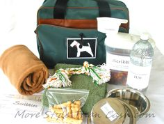 This Dog Bag DIY is the perfect travel bag and emergency bag that will always have your pooch ready to go.