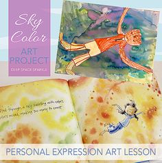 Sky Color by Peter H. Reynolds and Deep Space Sparkle Watercolor Project