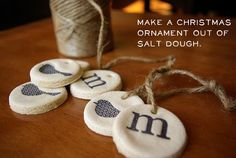 Stamp salt dough for these cute ornaments. | 33 Adorable And Creative DIY Ornaments
