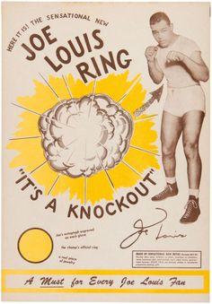 JOE LOUIS PROMO SIGN FOR VERY RARE RING.