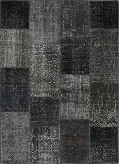 Featured on HGTV Fixer Upper! Turkish Patchwork Rugs- After Dark