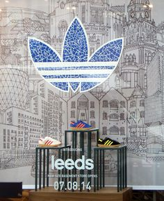 Adidas Size cut vinyl decals and self adhesive vinyl wall manifestations and installation Leeds 1.jpg