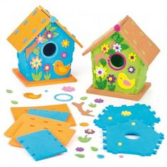 Save 60% - Now Only £1.49  2 assorted colours. A fun foam birdhouse for kids to make. Each kit includes thick foam templates and self-adhesive foam shapes. Suitable for Age 5+