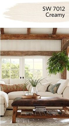 love the neutrals- makes the wood really stand out