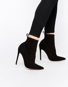ASOS ENVISION Pointed Shoe Boots