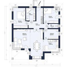 Zenker Konzept BU 124 mit Walmdach, Erdgeschoß (Abbildung mit Sonderausstattung)