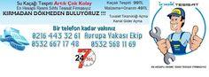 Kadıköy Mahallesi Su Kaçağı Tespiti | su kaçağı bulma