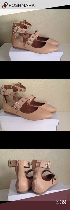 Steve Madden iridessa nude pointy flats shoes 9 Brand new - right shoe has a light scuff on toe shown in last photo. Steve Madden Shoes Flats & Loafers