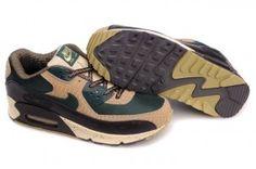 Nike Air Max 90 Oscuro Verde/Gris/Negro Zapatillas Hombre