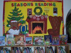 Christmas bulletin board library displays