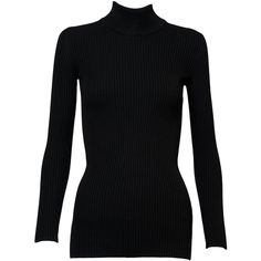 Azzedine Alaïa Turtleneck Sweater (3,675 SAR) ❤ liked on Polyvore featuring tops, sweaters, kirna zabete, kzloves, the winter edit, long sleeve sweater, alaia top, turtle neck sweater, fitted turtleneck and polo neck top