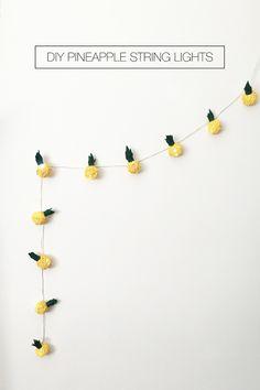 DIY Pineapple String Lights - Drawn to DIY