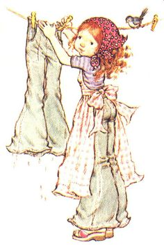 I can still remember this actual picture from my Panini Holly Hobby/Sarah Kay sticker book. Sarah Key, Creation Art, Holly Hobbie, Anne Of Green Gables, Australian Artists, Illustrations, Cute Illustration, Vintage Children, Cute Art