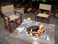 DIY Square Concrete Fire Pit