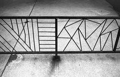 Geometric iron fence panel