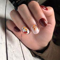 Nail Art Designs Videos, Fall Nail Art Designs, Manicure Nail Designs, Nail Manicure, Nail Drawing, Seasonal Nails, Chic Nails, Autumn Nails, Flower Nails