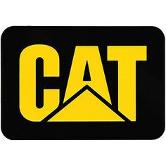 Cat Caterpillar Yellow Mud Flaps Guard Rubber Set Of 2 Mudflaps Semi