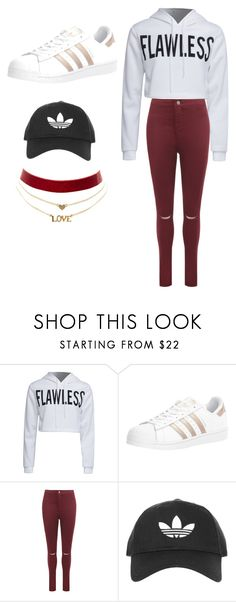 """""""Untitled #16"""" by mdeangelo on Polyvore featuring WithChic, adidas, WearAll, Topshop and Charlotte Russe"""