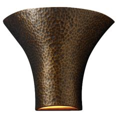 Ambiance Open Top and Bottom Large Round Flared 1 Light Wall Sconce