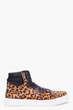 SS 2012 LOOK - SHOES    YVES SAINT-LAURENT LEOPARD MALIBU HIGH TOP SNEAKERS
